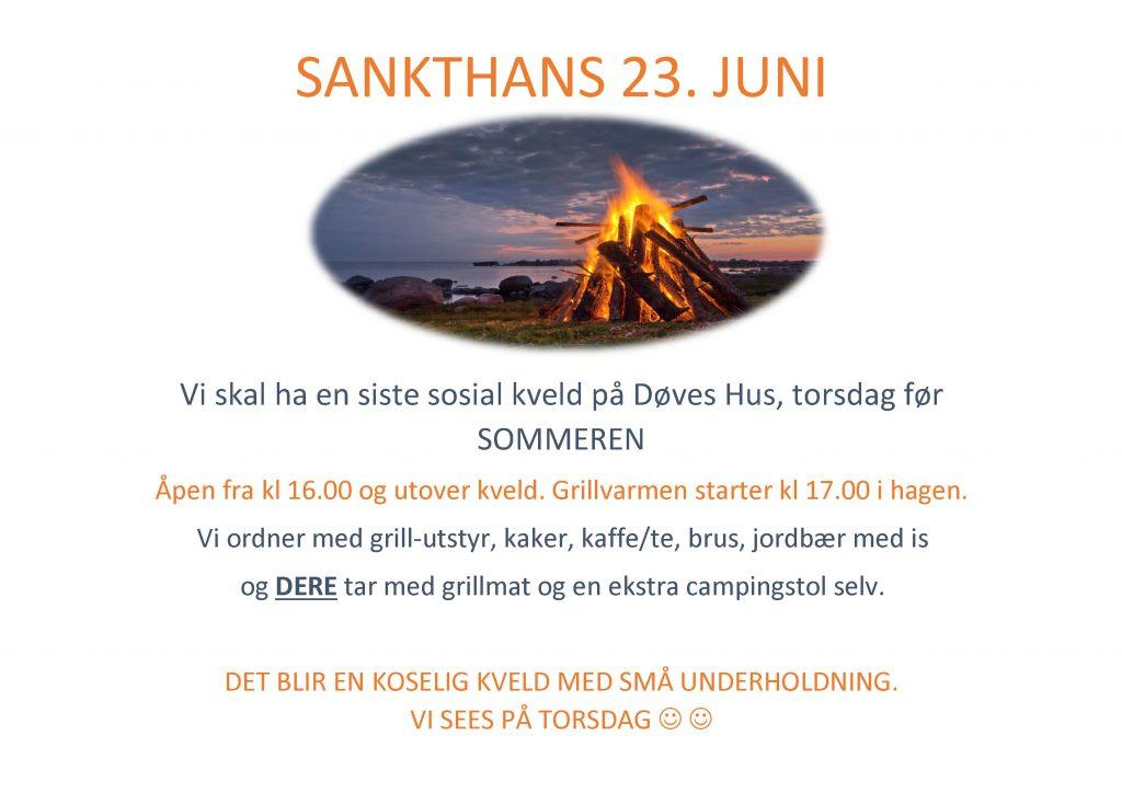 Torsdag 23. juni 2016 - St Hans Aften